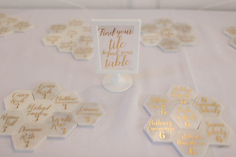 TILE ESCORT CARDS AND SIGNS