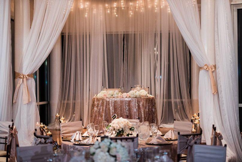Elegant front table set up