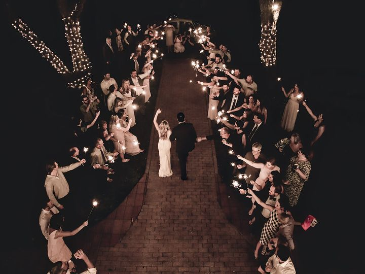 Tmx 1452275149175 Beautiful Sparkler Exit From Above At A Houston We Hockley, TX wedding venue