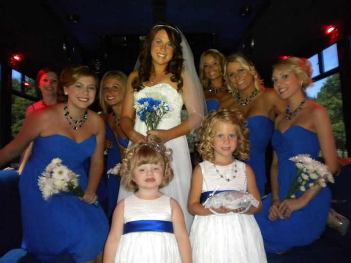 the bride and girls picture perfect