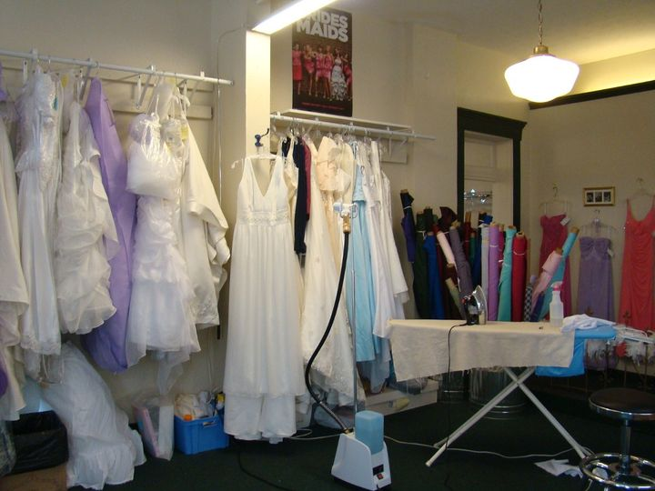 This is the pressing area where Melissa puts the final touches on your gown.
