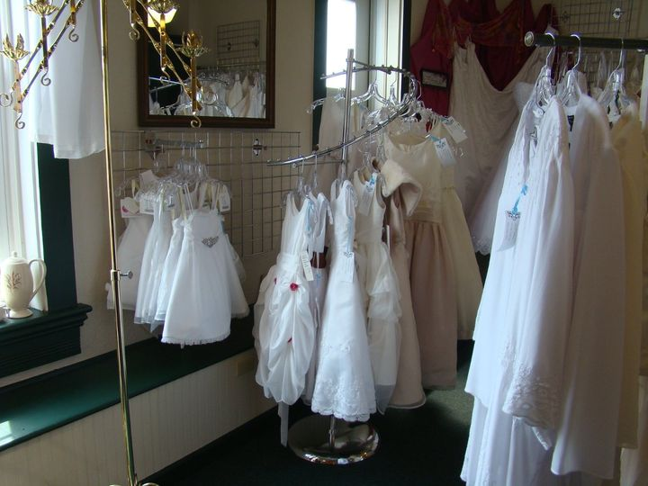 These are some of the flower girl dresses in our shop currently.