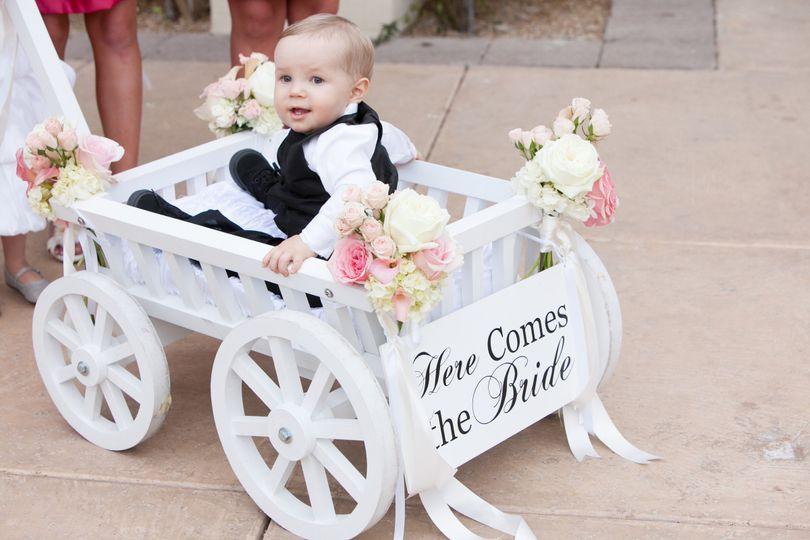 Little boy on the cart