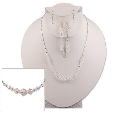 Diamond-Cut Clear Austrian Crystal Item #SS0006 (Sterling Silver) Item #GF0006 (Gold Filled)...