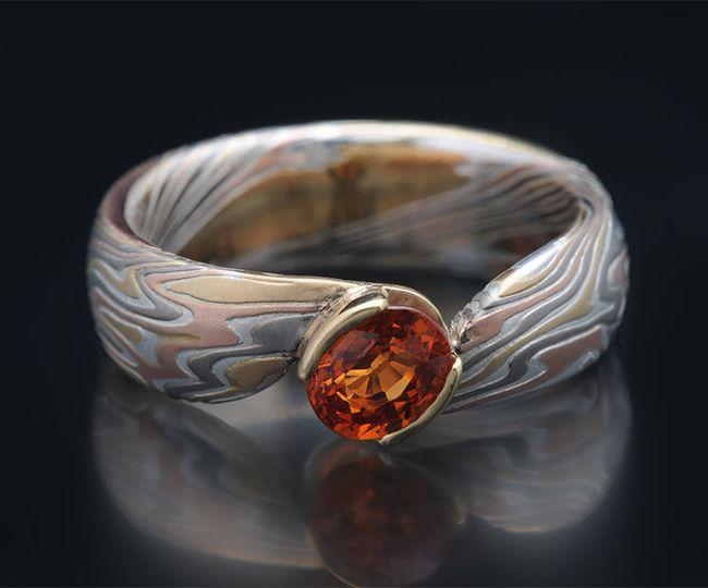 Bypass ring in multigold mokum