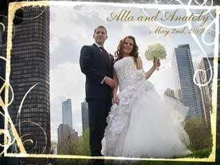 Chicago down town video of wedding day