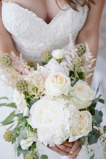 White roses and astilbe