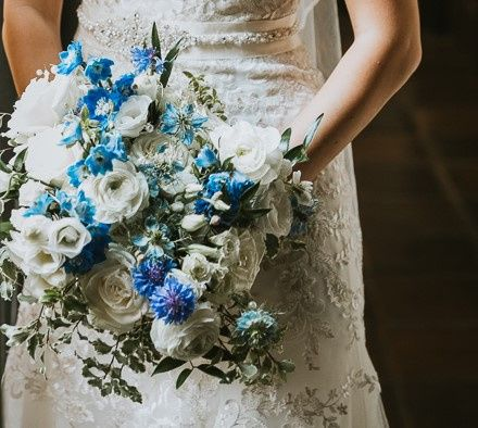 Summer blue and white bouquet