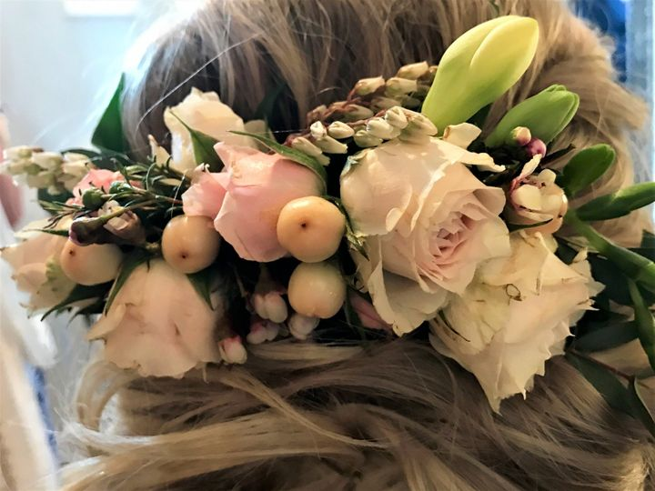 Bride's hair piece
