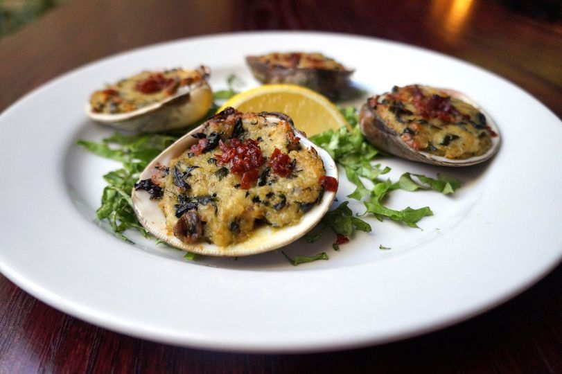 Baked Clams appetizer.
