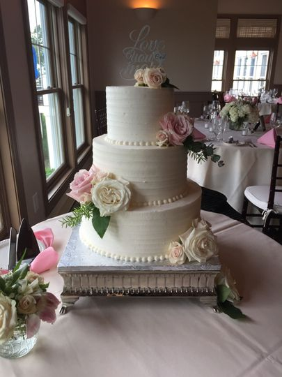 Wedding Cake by FlourGirl Patissier - Laura & Chris