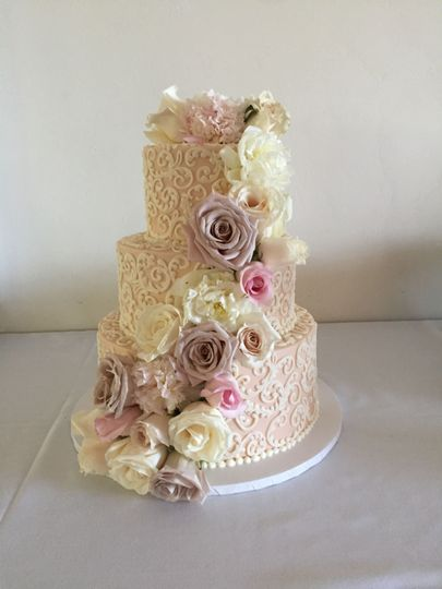 Wedding Cake by FlourGirl Patissier - Brenda & Dan