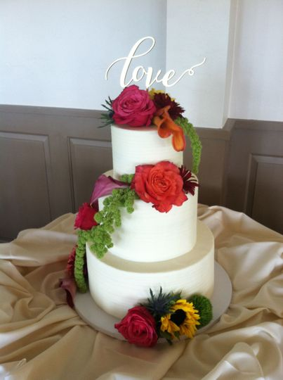 Wedding Cake by FlourGirl Patissier - Suzie & Mike