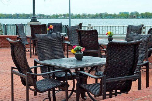 Riverfront Ceremony location overlooking Detroit Riverfront and Canadian Coastline.