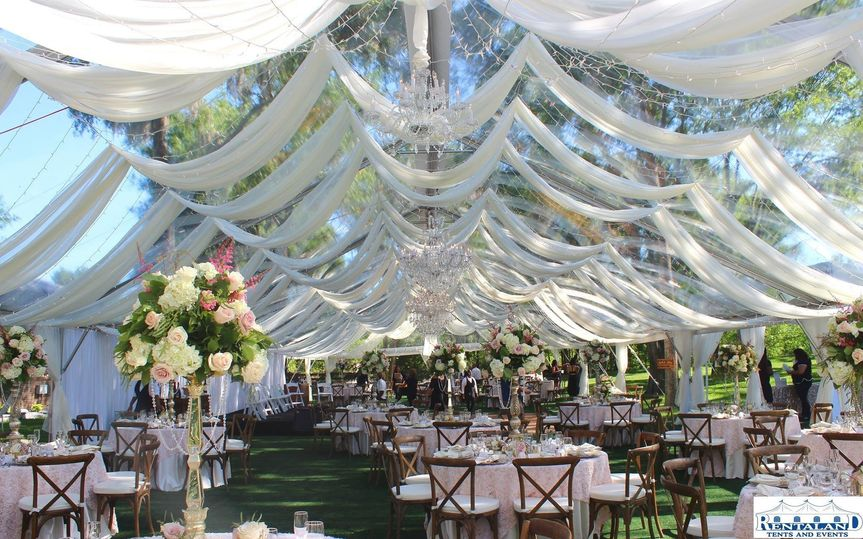 Private residence Tent/Draping:  Rentaland