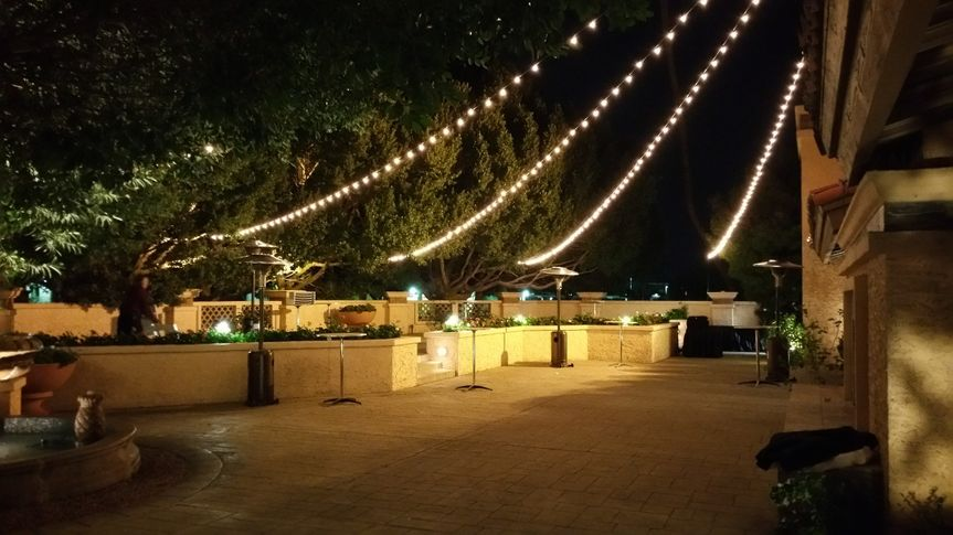 Outdoor lighting at the Arizona Grand Resort