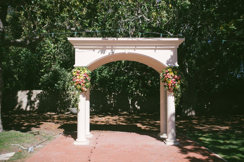 Flower arch from Joy for Coy