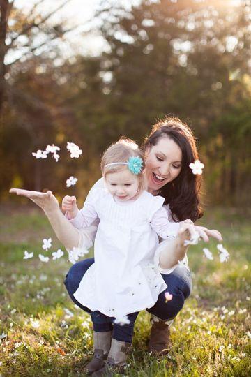 hilton mommy me session lake monticello photo