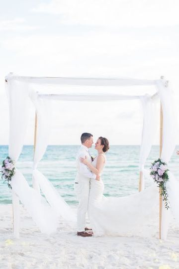Couple in the chuppah