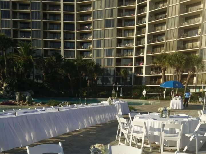 Tmx 1521738222 E51e9171e855be7c 1521738219 83a233244fe281cb 1521738208174 7 Edgewater Pool Dec Panama City Beach, FL wedding venue