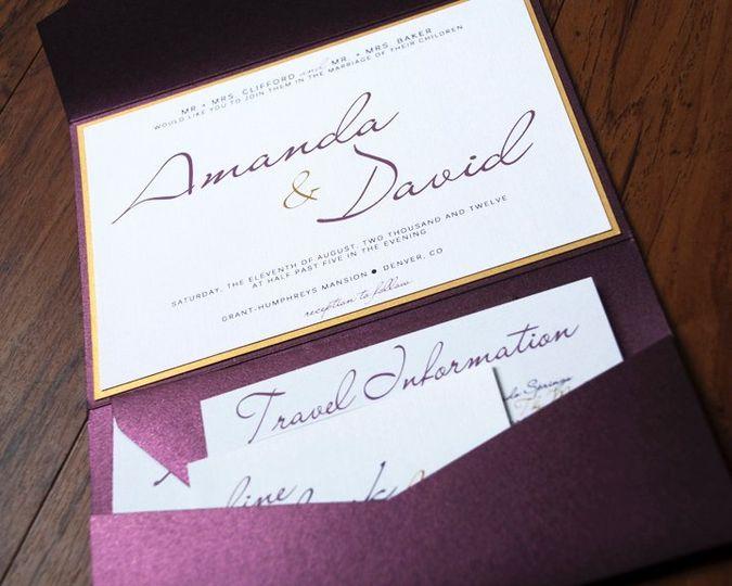 Contemporary Calligraphy Wedding Invitation Suite