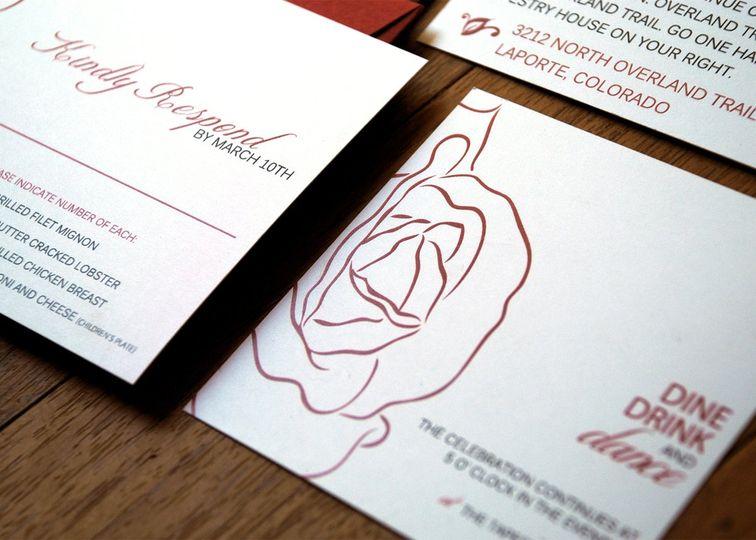 Traditional Rose Wedding Invitation Suite