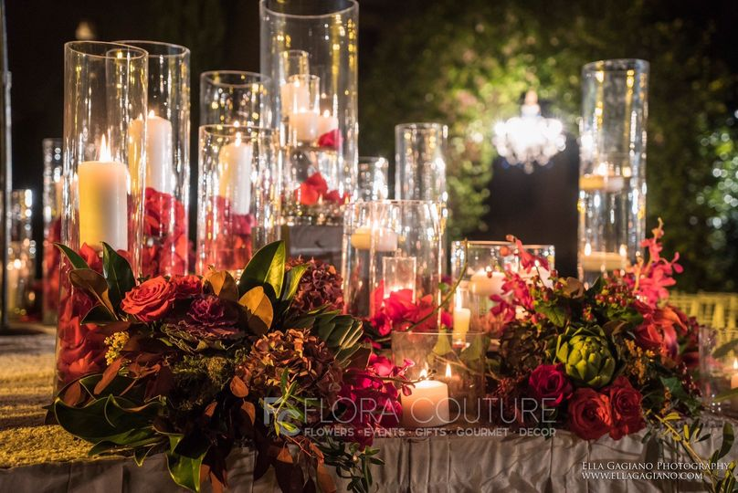 Table candle and centerpieces