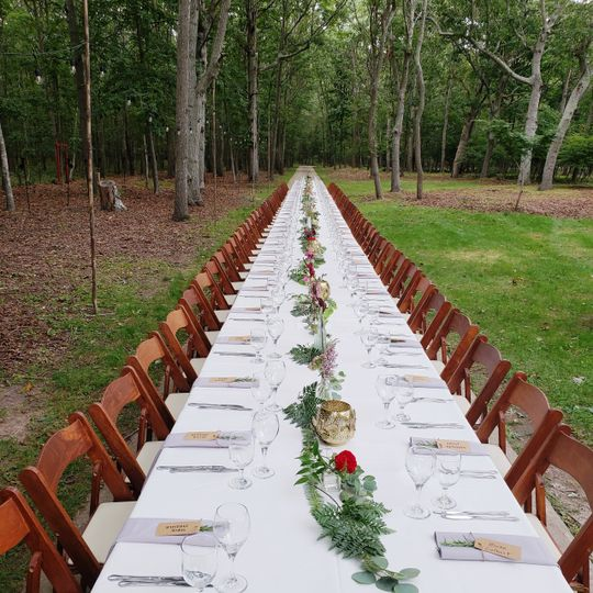 Wedding table for 80 guests