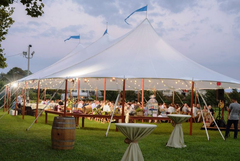 Aurora sheer sailcloth tent