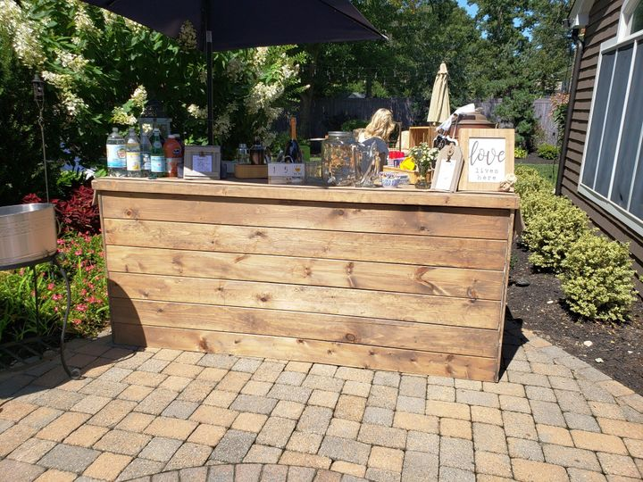 Tmx Bar Barnwood 8 Ft With Shelf 51 76698 1569427978 Medford, NY wedding rental
