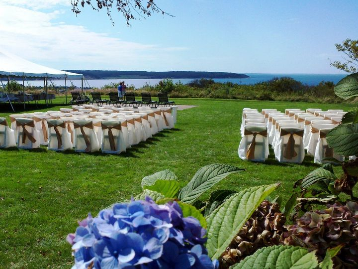 Tmx Chair Covers With Sashes Ceremony In Montauk Ny 51 76698 1569427927 Medford, NY wedding rental