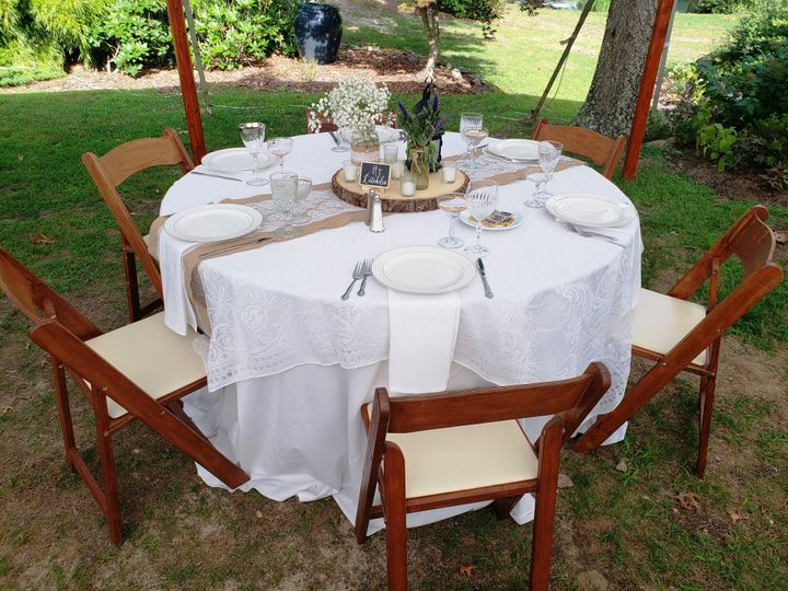 Tmx Fruitwood Folding Chairs At Table 51 76698 1569428074 Medford, NY wedding rental