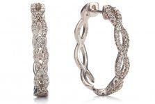 Tmx 1330615148897 18kwhitegolddiamondhoopearrings Burlington wedding jewelry