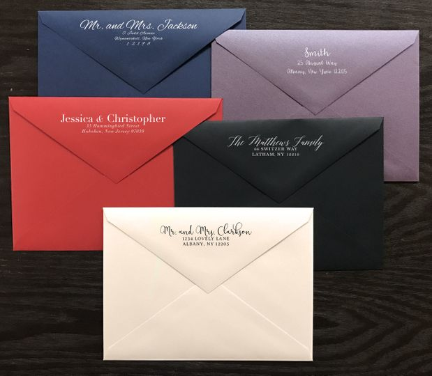 Colored envelopes and free printed addressing