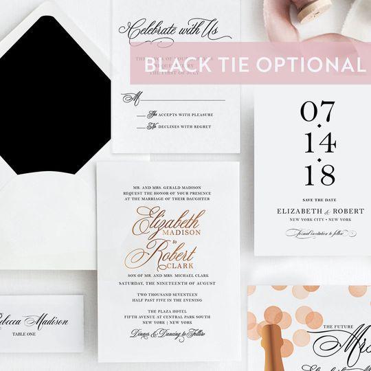 Black tie optional suite