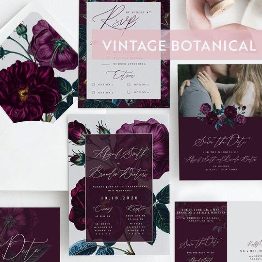 Vintage botanical suite