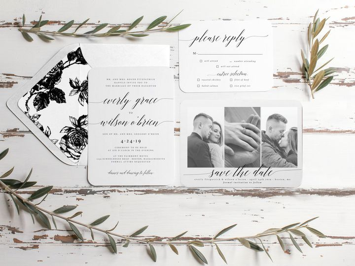 Tmx 1506519080675 Preview Lightbox Lovelettermockup Albany, NY wedding invitation