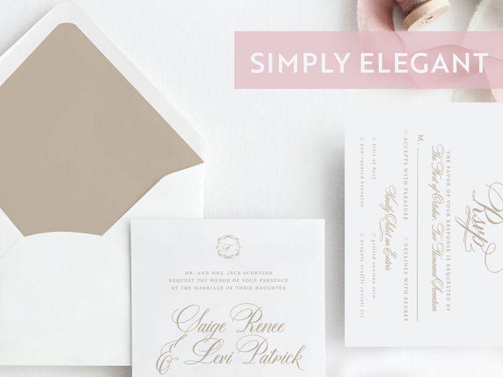 Tmx 1528313774 E2293305877c7e9a 1528313773 66d8e0d9612861e6 1528313772932 4 Style SimplyElegan Albany, NY wedding invitation
