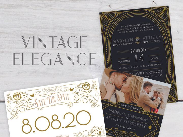 Tmx 1528318369 0fe8a95e88f8c788 1528318367 F6d974a8e64cdbe4 1528318367140 6 Weddingstyle Vinta Albany, NY wedding invitation