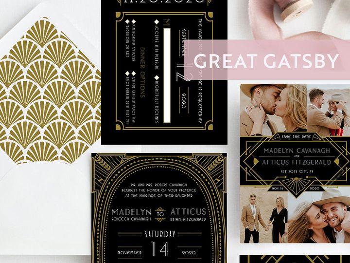 Tmx 1538509008 F79164e72d57a265 1538509005 96f55ff308518d29 1538509000815 4 Style Gatsby Albany, NY wedding invitation