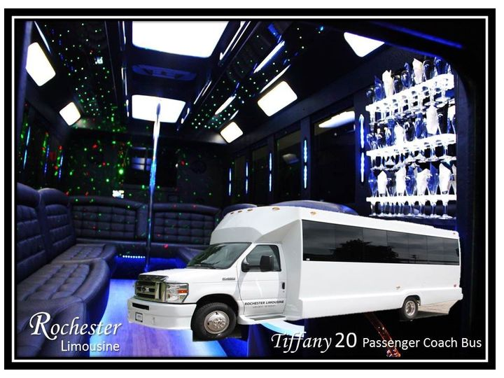 Tiffany 20 Passenger Coach Bus 18 to 20 Passengers 2 Plasma TVs CD/DVD/Mp3/ipod 1 Large Bar,...