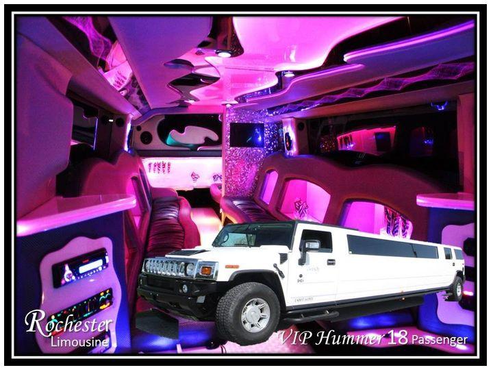 VIP Hummer 18 Passengers Changing Fiber Optic Mood Lighting Lighted Fiber Optics in back of Seats...