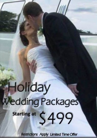Holiday Wedding Packages discounted from $599 to $1599 Down to $499 to $1399. Offer Valid For...