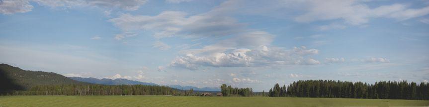 Manicured fields, big blue sky