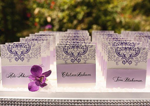Escort cards for the wedding of Actress Niecy Nash and Jayson Tucker, May, 2011. Photo by Heidi...