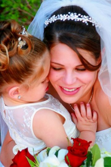 Bride and Flower Girl