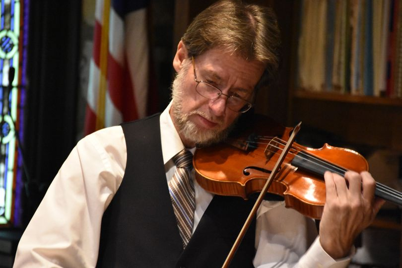 Violinist Stephen Taylor plays at St. Luke's Church in Louisville