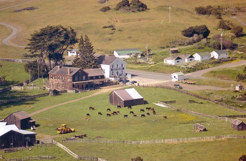 aerial view Stewarts Point