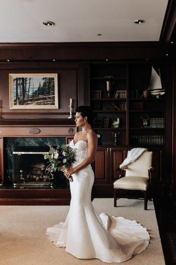 Wedding was in upstate Maine