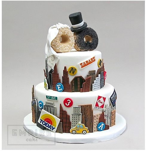 nyc themed wedding cakes empire cake wedding cake new york ny weddingwire 17953